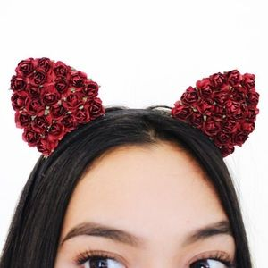Custom Rose Cat Ears